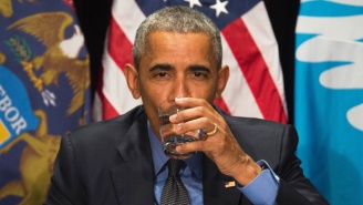 President Obama Sips Filtered Flint Water To Prove It's Just Fine