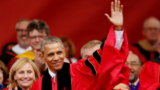 President Obama Takes Shots At Trump's Wall In Rutgers Commencement Speech
