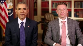 President Obama And Macklemore Align Forces To Discuss Opioid Addiction