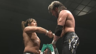 Kenny Omega Threw Down The Challenge For A Rare NJPW Ladder Match
