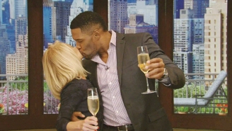 Kelly And Michael Break Out The Champagne And Make Nice For An Emotional Farewell