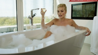 Here Is Margot Robbie In A Bathtub To Get Your Attention For #RedNoseDay