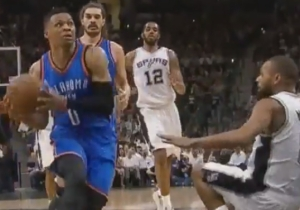 Russell Westbrook Put Patty Mills' Butt On The Court With This Slick Crossover