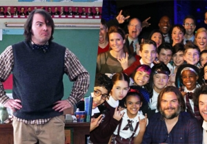 Jack Black Pays A Magical Visit To The 'School Of Rock' Broadway Cast