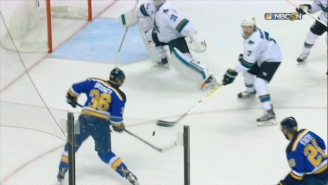 A Blues Player Used A Baseball Swing To Score An Awesome Goal