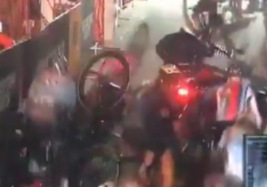 This Horrifying Cycling Pile-Up Resulted After A Motorcycle Stalled On The Course