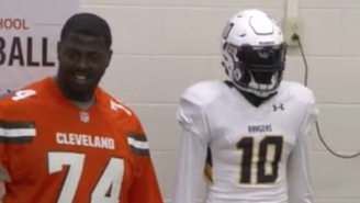 Robert Griffin III Pranked A High School Football Team By Posing As A Mannequin