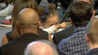 Riley Curry Stole The Show At Steph's MVP Press Conference, As She Always Does