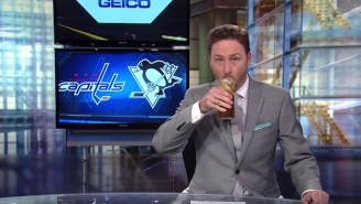 All This Sports Anchor Could Do After The Capitals' Elimination Was Drink On-Air