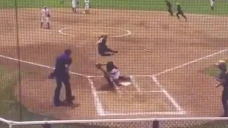 An Army Softball Player Went Airborne For This Incredible Highlight At Home Plate
