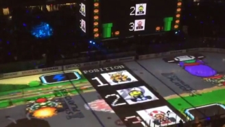 The Lightning Let Fans Play Mario Kart On Their Ice And It Looks Amazing