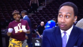 This Brilliant Videobomb Makes It Even Easier To Ignore What Stephen A. Smith Is Saying