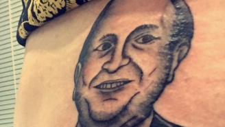 This Hockey Fan Got Gary Bettman's Face Tattooed On His Butt After Losing A Bet