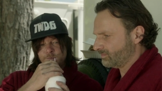 Norman Reedus And Andrew Lincoln Try To Make 'The Walking Dead' A Little Brighter For Red Nose Day