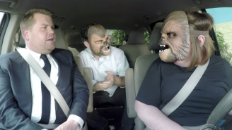 Chewbacca Mom Carpools with J.J. Abrams and James Corden