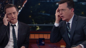 Watch James McAvoy and Stephen Colbert Read Minds