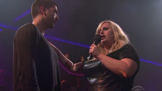 James Corden Doubles Down on 'Drop The Mic' with Rebel Wilson, David Schwimmer