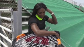 Serena Williams Teamed Up With Dude Perfect To Do Some Ridiculous Tennis Trick Shots