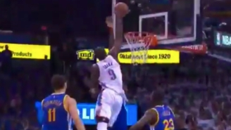 Serge Ibaka Put Festus Ezeli On A Poster With This One-Handed Tomahawk Jam