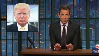 Seth Meyers Mocks Trump As The 'Law and Order SVU' Candidate Over His Modeling Agency