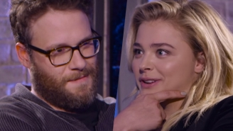 Seth Rogen And Chloë Grace Moretz Try To Make Each Other Laugh With Childish Insults