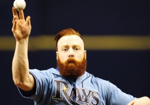 Watch WWE Superstar Sheamus Try (And Fail) To Throw Out The First Pitch At A Rays Game