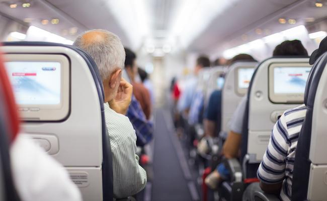 inside of a plane