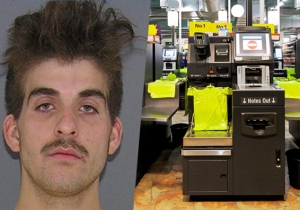 A Guy Exacted Revenge On Grocery Store Self-Checkout Scanners By Taking A Steaming Dump On One