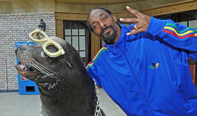 Snoop Dogg At SeaWorld San Diego