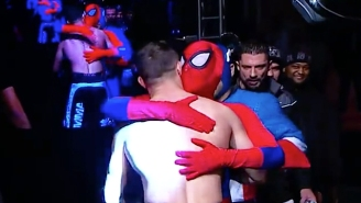 This Bizarre MMA Entrance Featured Cameos From Spider-Man, Captain America, And Mickey Mouse