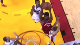 Terrence Ross Attacked The Rim For A Two-Handed Dunk All Over The Heat