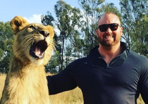 The Mountain From 'Game Of Thrones' Visits Lions In South Africa Because They Like 'Big Meat'