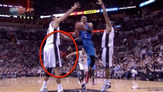 That Time Russell Westbrook Kicked Tim Duncan In The Balls