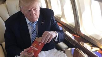 The Internet Naturally Photoshopped Donald Trump's Celebratory Meal Of McDonald's