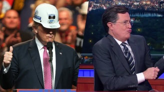'The Late Show' Mocks Donald Trump's Bizarre Hairspray Rant To West Virginian Miners
