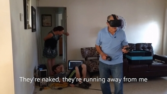 This Grandpa Proves That Using Virtual Reality Can Be A Very Hazardous Experience