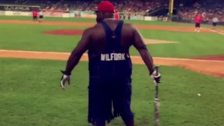 Vince Wilfork Busted Out His Famous Overalls At J.J. Watt's Celebrity Softball Game