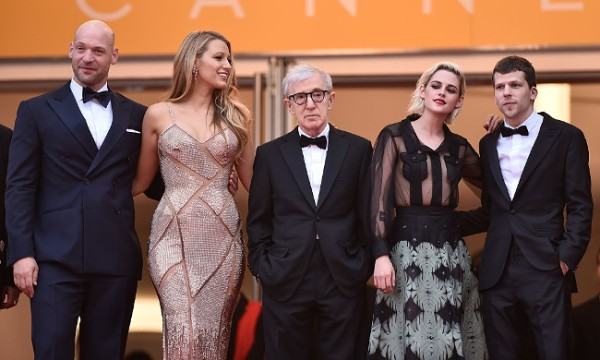 Woody Allen and some people at Cannes