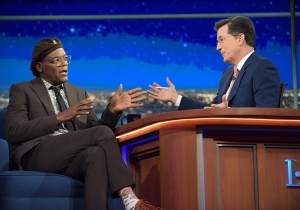 Stephen Colbert asks Samuel L. Jackson the big questions on 'The Late Show'