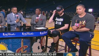 Kevin Love Celebrated The Cavaliers' NBA Championship While Wearing An 'Austin 3:16' Shirt