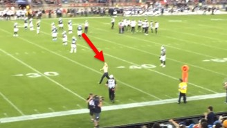 This Streaker Paid A Hefty Price After Getting Too Close To A CFL Player