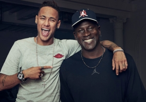 Michael Jordan And Neymar Came Together For The Launch Of Jordan's First Soccer Boot