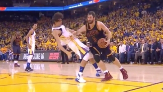 Anderson Varejao Flopped His Way To This Kevin Love Offensive Foul