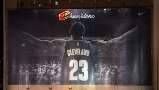 Ohioans Are Outraged At Plans To Remove LeBron's Iconic Banner For The Republican National Convention