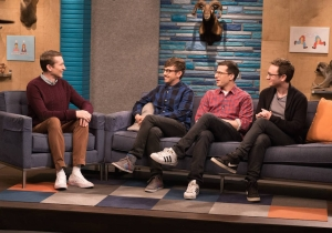 """Watch The Lonely Island Express Their Love for """"Weird Al"""" Yankovic"""