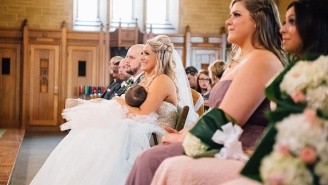 This Bride Is Going Viral For Breastfeeding At Her Wedding
