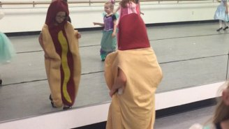 The Girl Who Wore A Hot Dog Costume On Princess Day Is A Freaking Hero