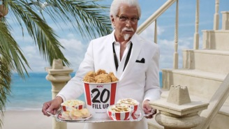 George Hamilton Is The 'Extra Crispy' Colonel In KFC's New Commercials, For Obvious Reasons