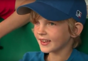 This Inspirational Young Cubs Fan Now Wears His Favorite Team's Logo On His New Eyeball