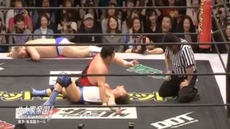 This Japanese Wrestling Match Had The Most Unexpected (And Bizarre) Interruption